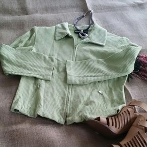 Short Jacket~ waffles look fabric
